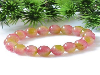 6 mm Kid's African artificial strawberry crystal bracelet
