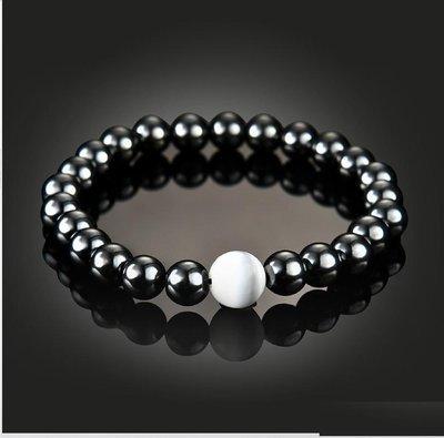 Magnetic Hematite Pearl Bracelet Stone Bead String Wristband*