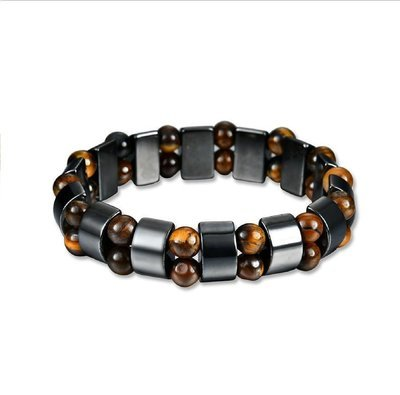 Magnetic therapy Tiger eye natural Brazil black gallstone bracelet health care slimming anti fatigue Bracelet*