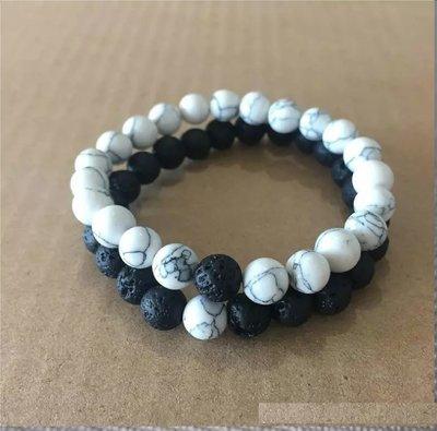 (2) Natural Lava & Rock Bead bracelets*