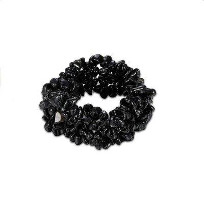 Elastic Natural Stone Multi layers Fluorite Gem  Crystal Stone Bead Bracelet