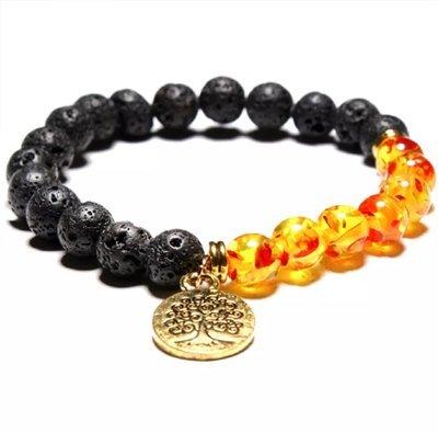 Natural lava volcano  bracelet*