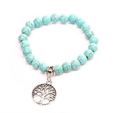 Tree of life Turquois Charm Bracelet*