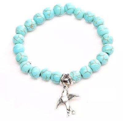 Humming Bird Turquois Charm Bracelet*