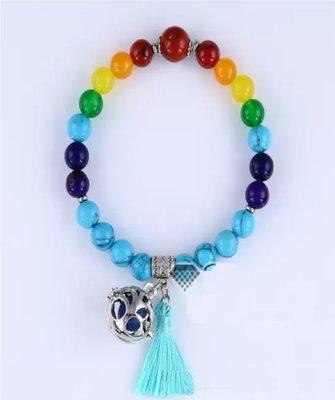 7 chakra balancing aromatherapy charm prayer beads