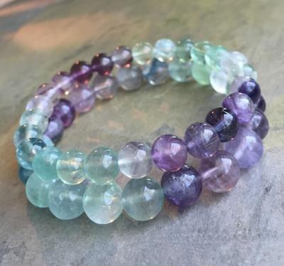 Rainbow Fluorite Bead (1)