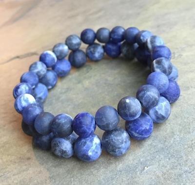 Matte Sodalite Beads