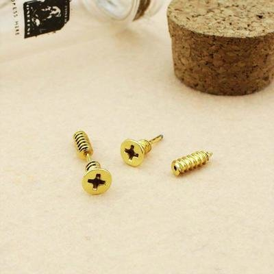Mini Gold Stud Earrings Screws