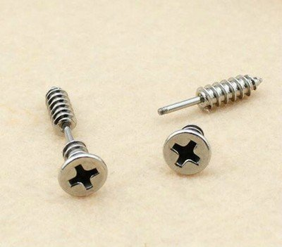 Mini Silver Stud Earrings Screws