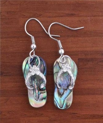 Colorful Abalone shell slippers shape Earring