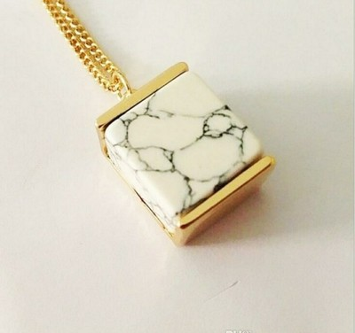 Marble Square Necklace Pendant