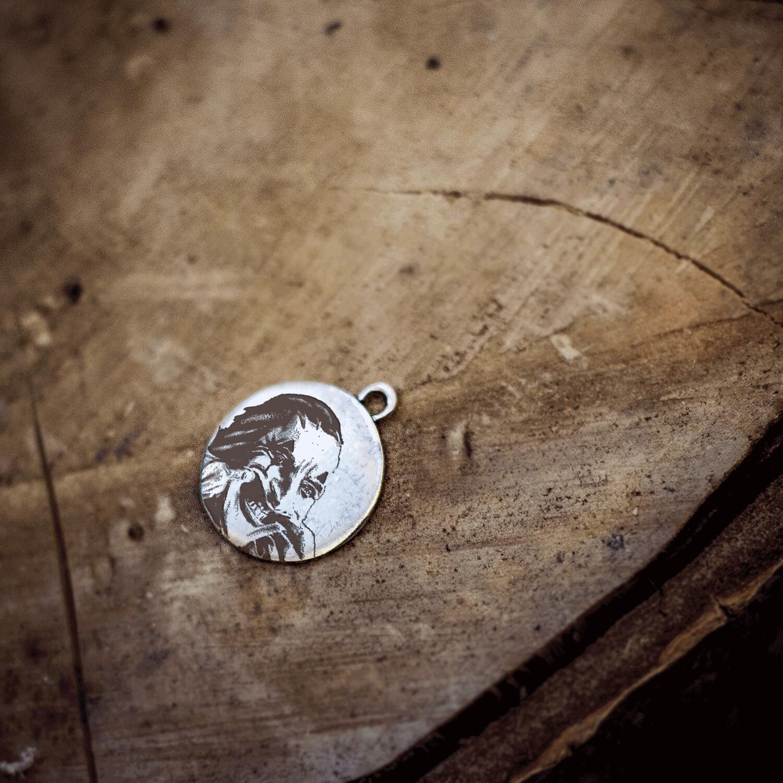 Joker necklace / Sterling silver pendant Joker cosplay / Joaquin Phoenix / put on a happy face