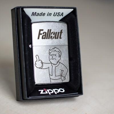 Fallout custom zippo 207 lighter / Vault boy gift