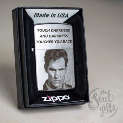 True detective custom Zippo 207 lighter / Matthew McConaughey