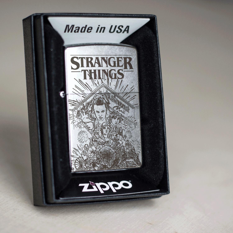 Stranger Things custom Zippo 207 lighter / Eighties / Millie Bobby Brown