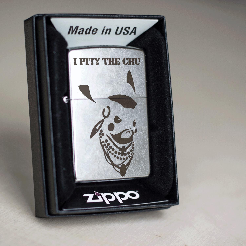The A-Team / Mr. T / Pikachu custom Zippo 207 lighter