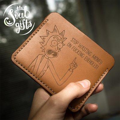Genuine Leather Card holder Rick and Morty / Rick Sanchez