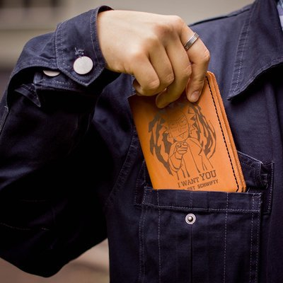 Genuine leather cover for passport / Uncle Rick / Rick and Morty gift
