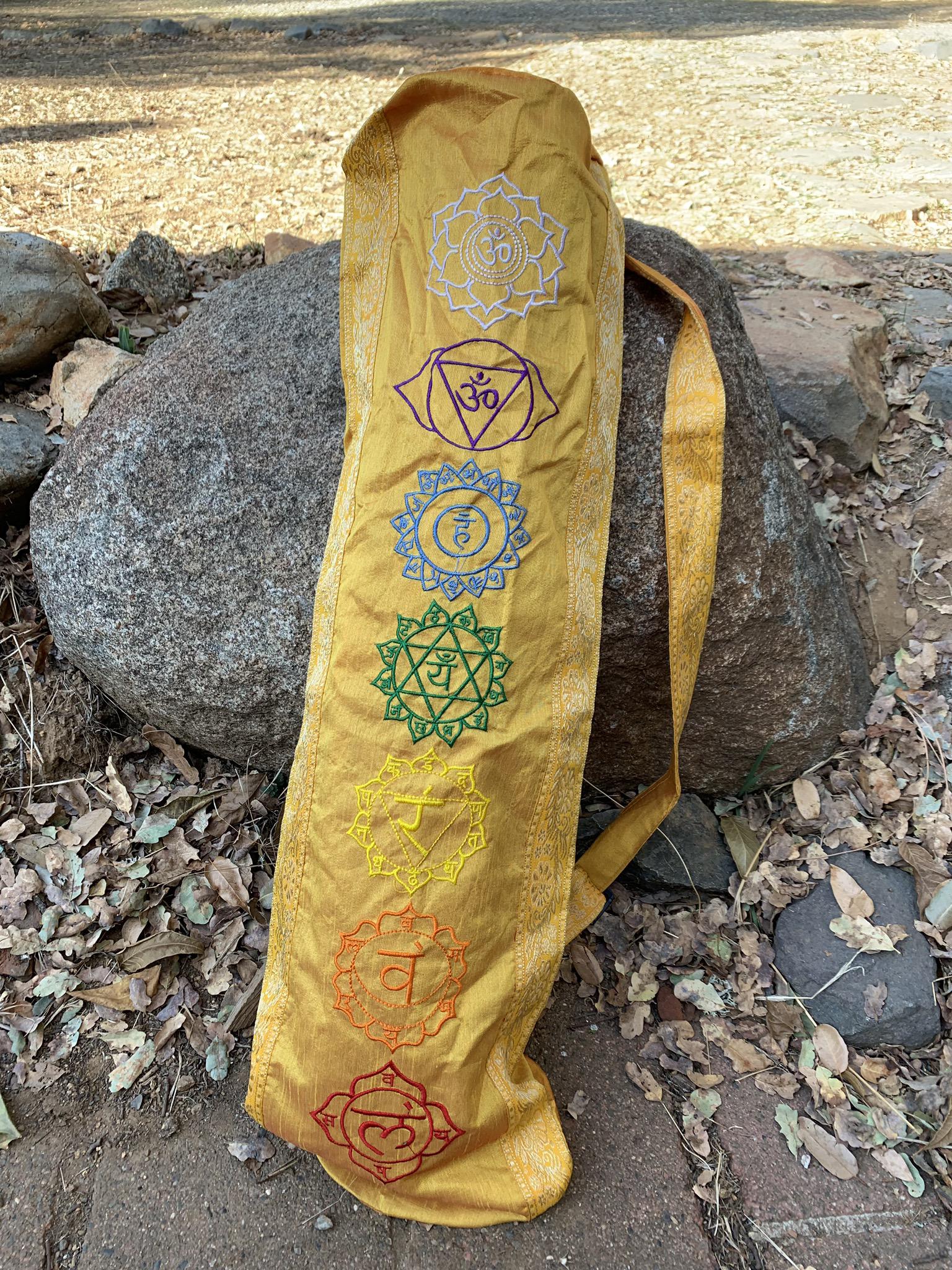 Yellow Yoga Mat Bag 00042