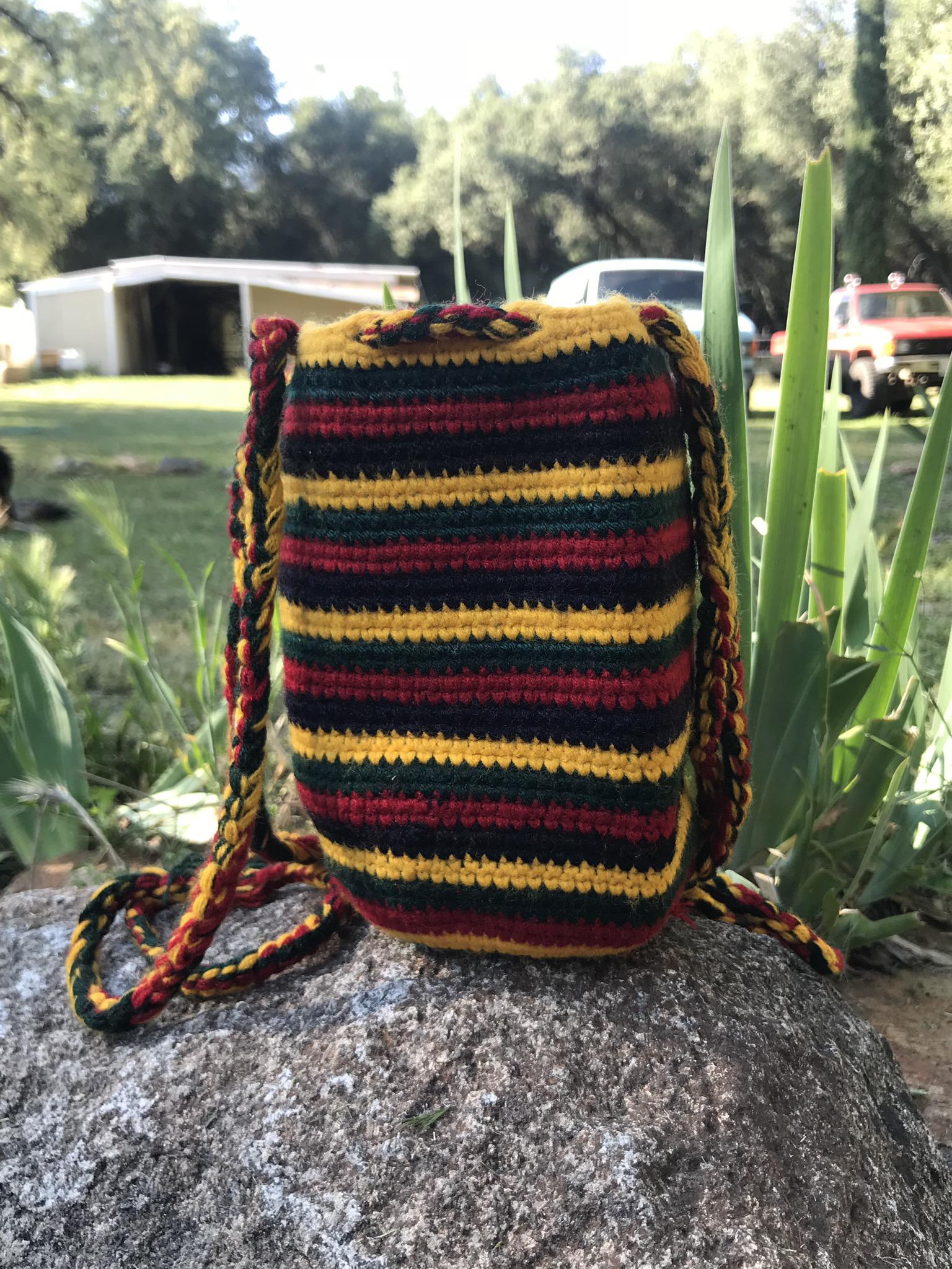 Small Jamaican Themed Mochilla Bag