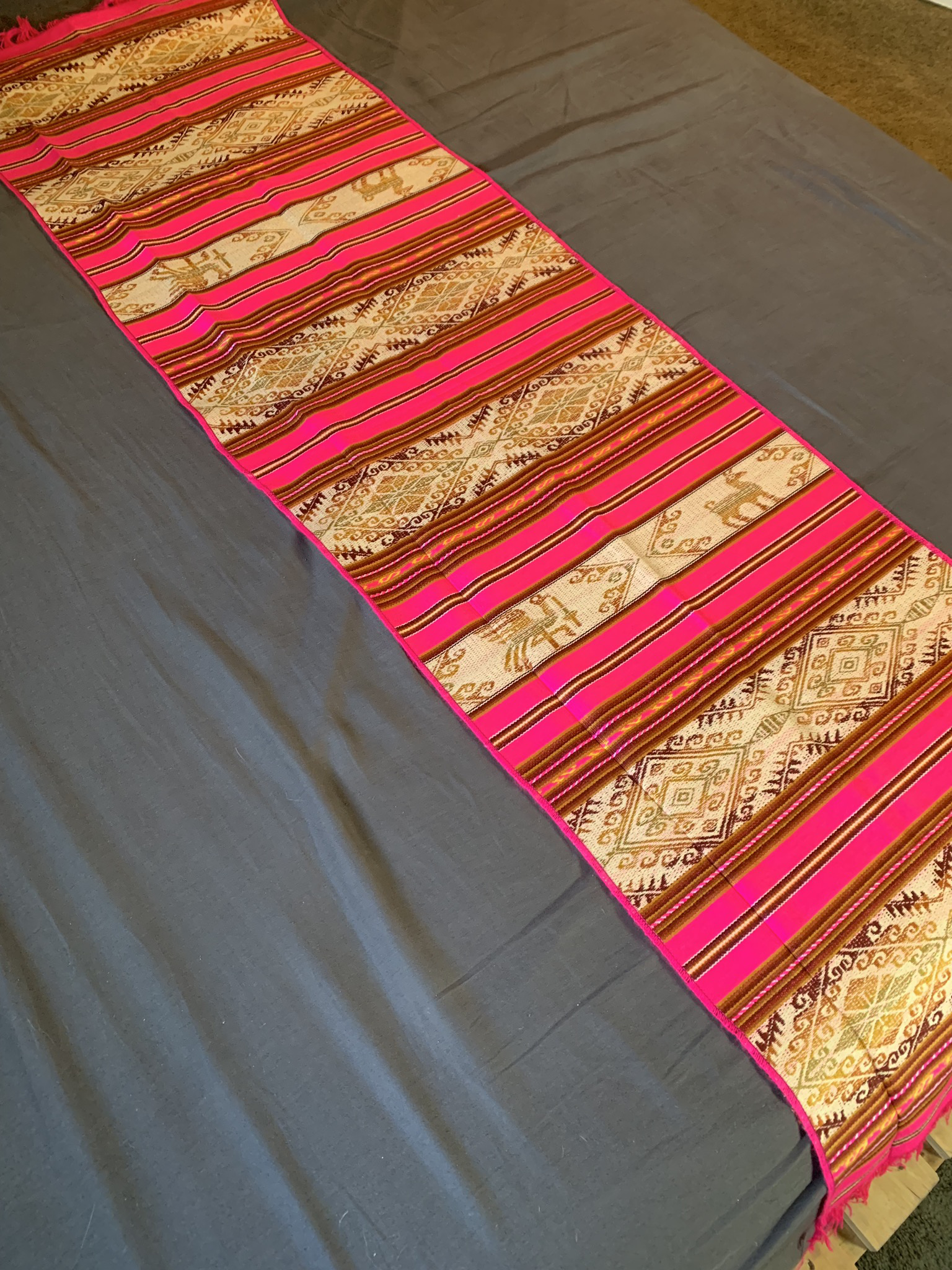 Pink Mexican Table Runner