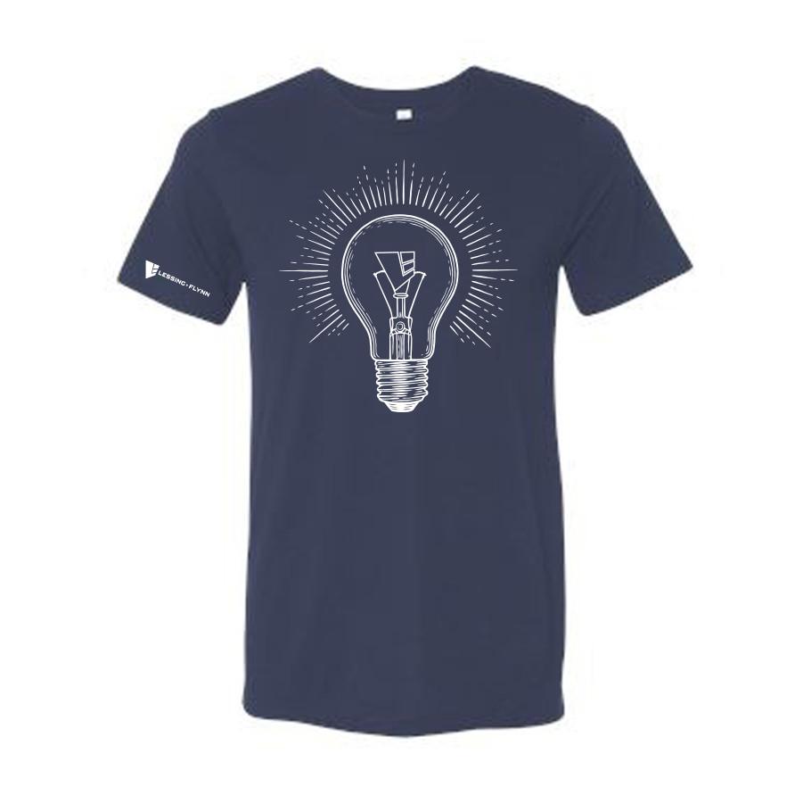 Light Bulb T-shirt - Short Sleeve, Crewneck Style