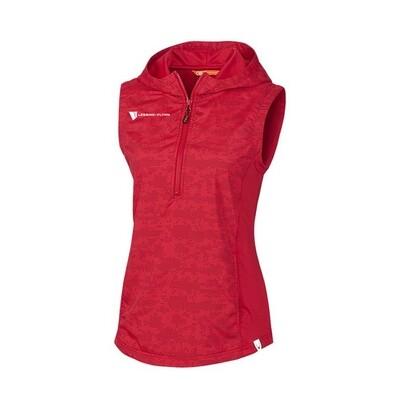 Ladies Swish Printed Sport Vest - Red w/ Heat seal logo