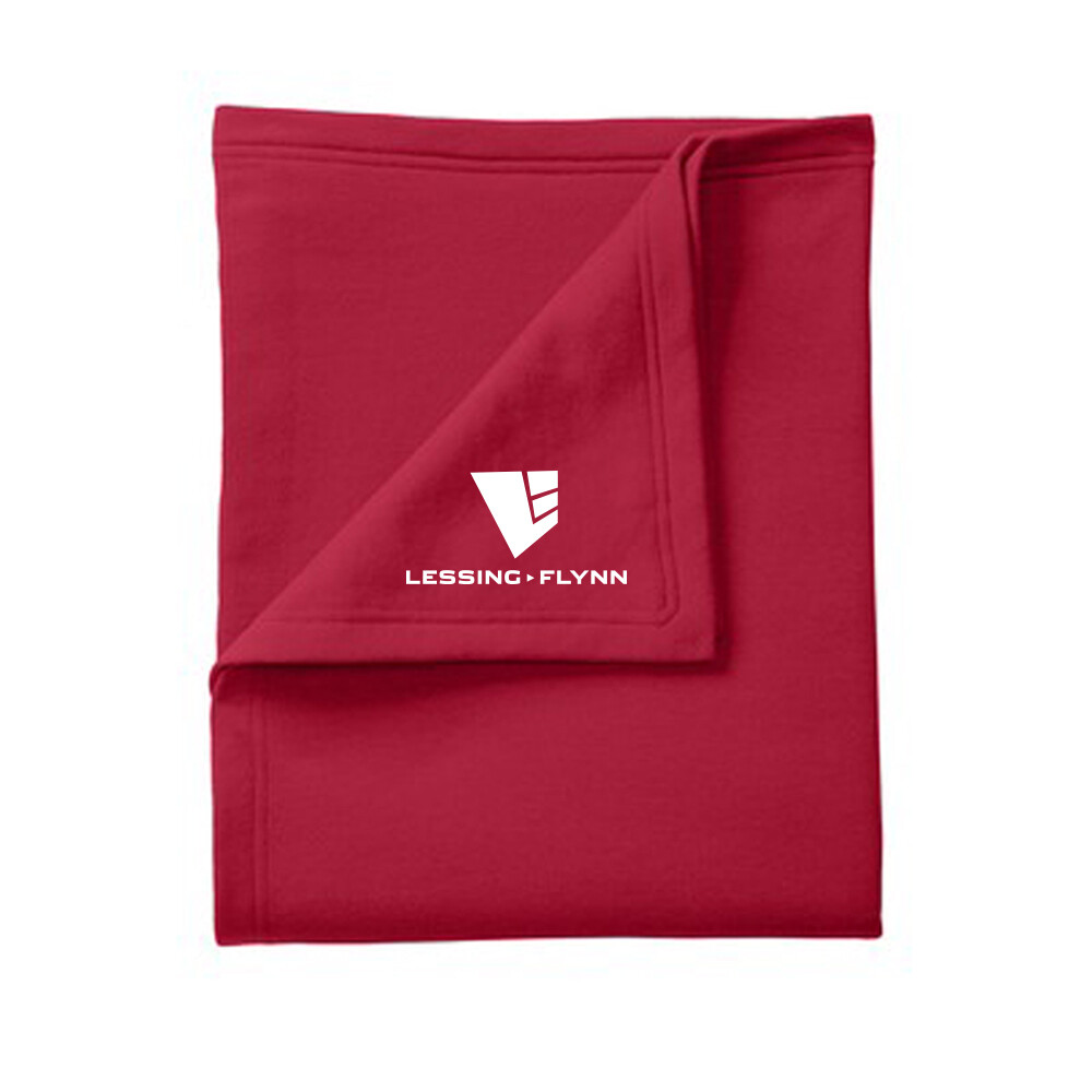 Port & Company Core Fleece Sweatshirt Blanket w/ Heat-sealed logo