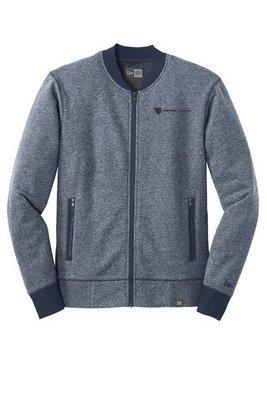 New Era® French Terry Baseball Full Zip Jacket - True Navy/True Navy Blue Twist
