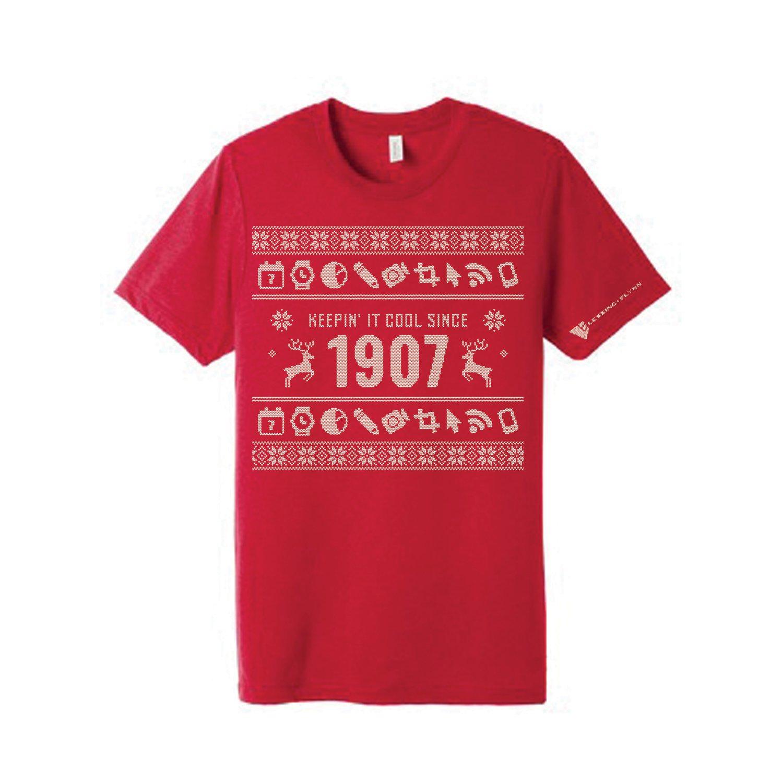 Bella+Canvas Unisex Triblend Short Sleeve Tee Shirt w/ Screen-printed Holiday Design
