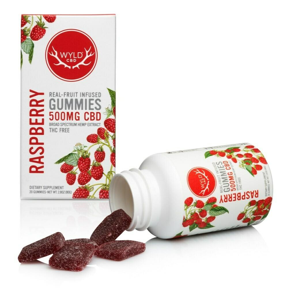 Wyld CBD Raspberry Gummies | 500MG