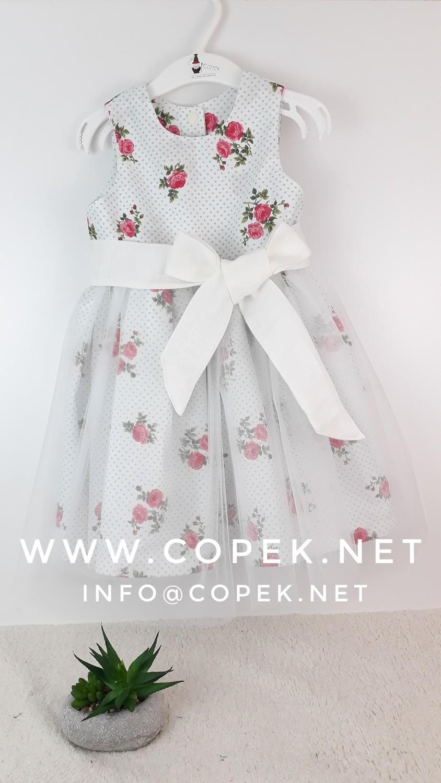 Rožasta oblekica s pasom
