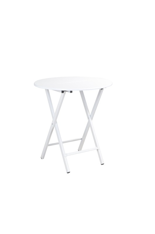 Foldable Table (Boot Round White)