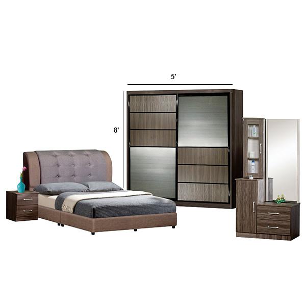 Bedroom Set with wardrobe 5' x 8'/8'x8'
