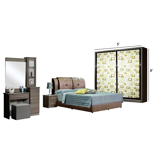 Bedroom Set with wardrobe 5'x8'/6'x8'/8'x8'