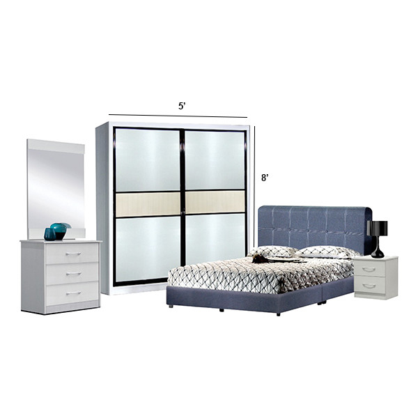 Bedroom Set with wardrobe 5' x 8'/6'x8'/8'x8'