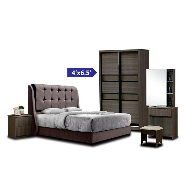 Bedroom Set with wardrobe 4' x 6.5'