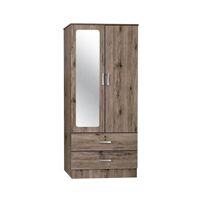 2 Door Wardrobe with Mirror