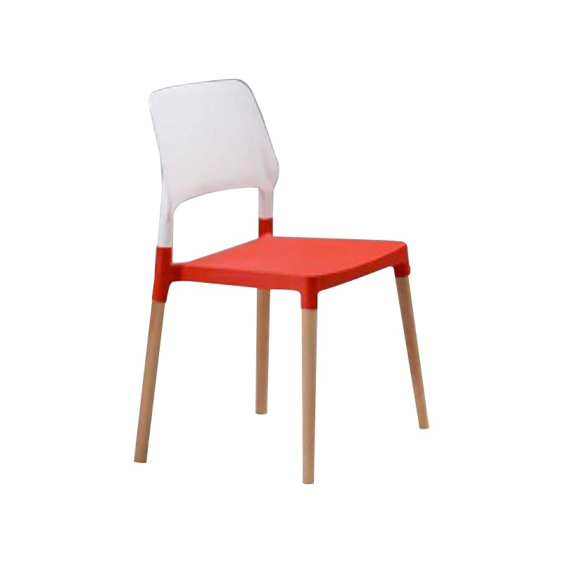 Dining Chair (White red)