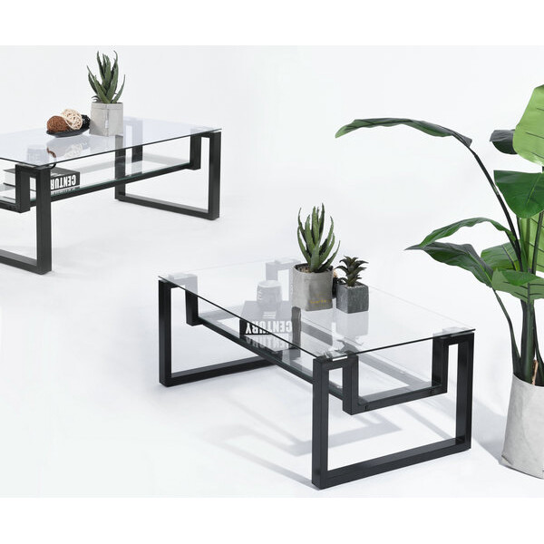 Glass Top Coffee Table (ISADORE)