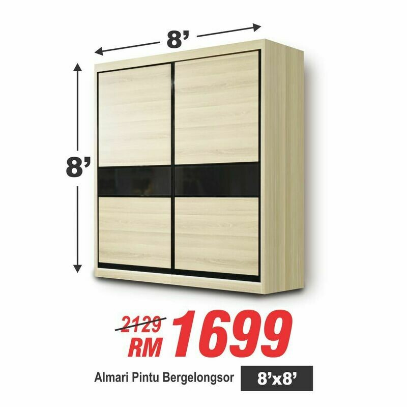 Slider wardrobe 8'x8'