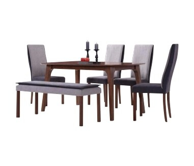 1+4 Dining Set with Bench Chair