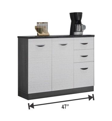 2 Door Kitchen Cabinet with 3 Drawers