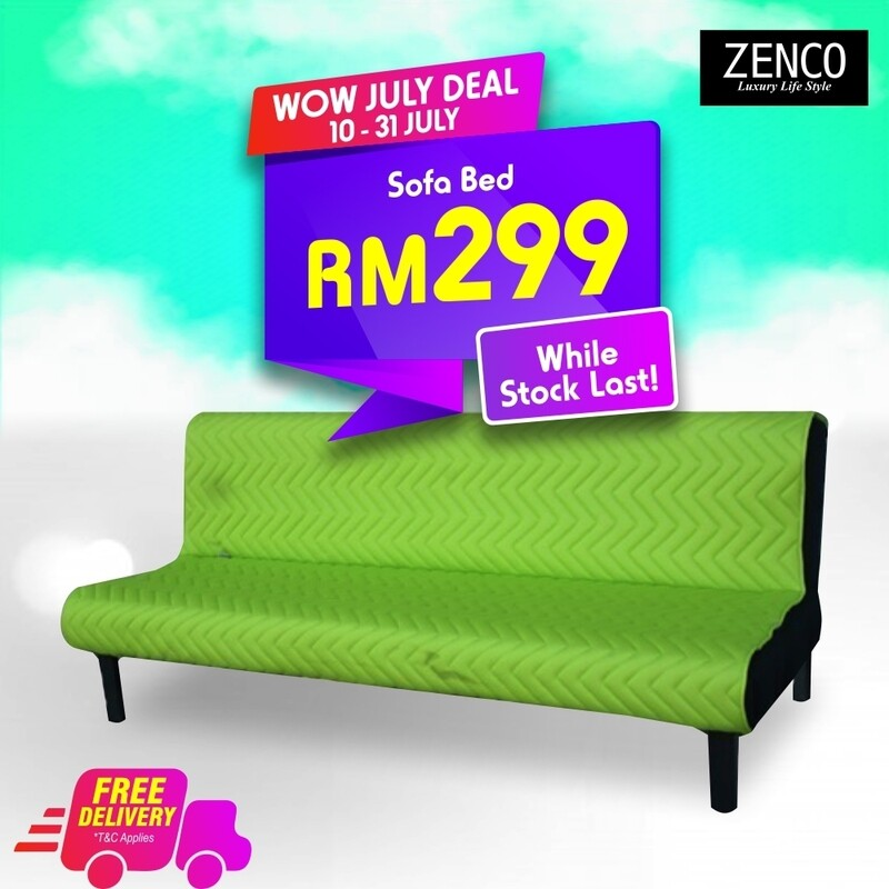 Modern Sofa Bed with FREE cushion - Green