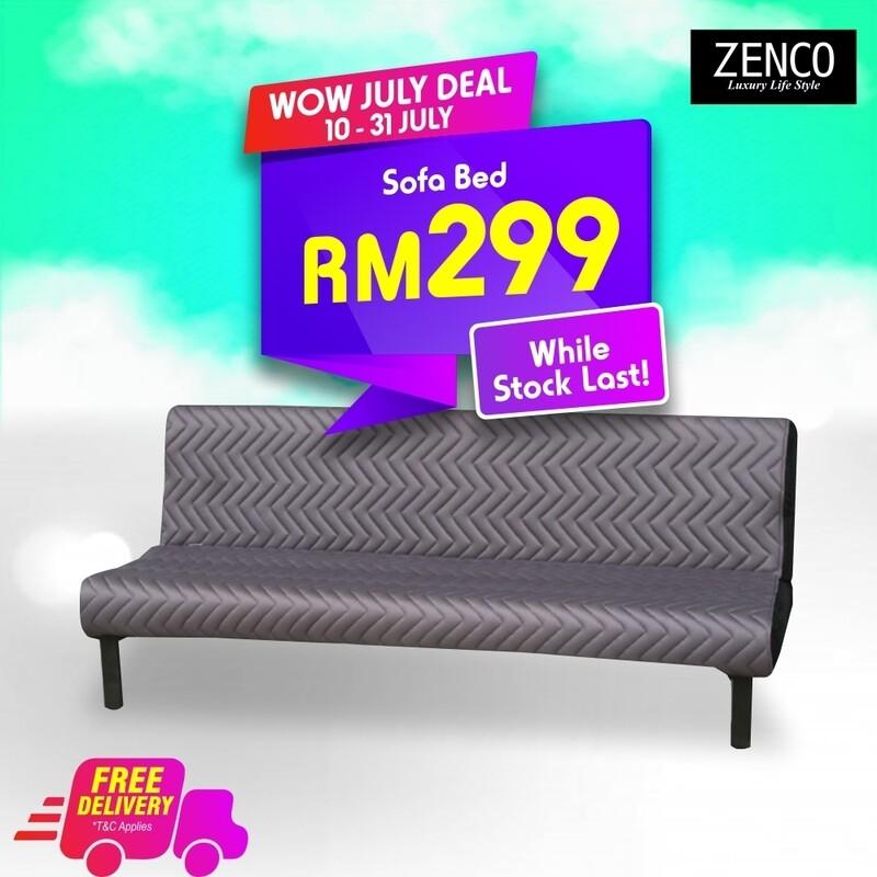 Modern Sofa Bed with FREE cushion - Grey