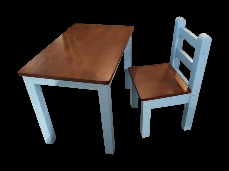 Children Study Table & Chair- Blue