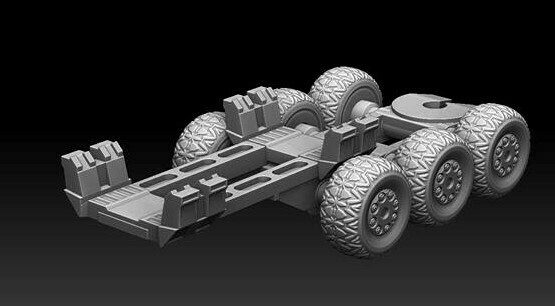 28mm Heroic Scaled Goliath Extension Trailer