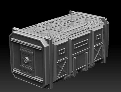 28mm Heroic Scaled Goliath Trailer Topper - Personnel Carrier Unit
