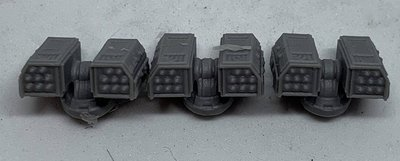 Pack of (3) x 6-8mm Epically Scaled Missile Launchers