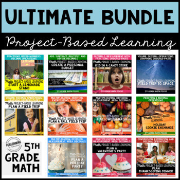 5th Grade Math Project Based Learning Bundle